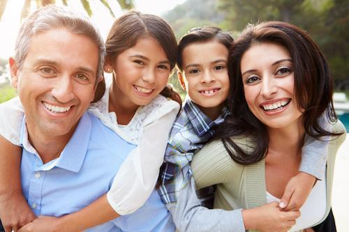Smiling family of four | Dentist Pasco Vale VIC
