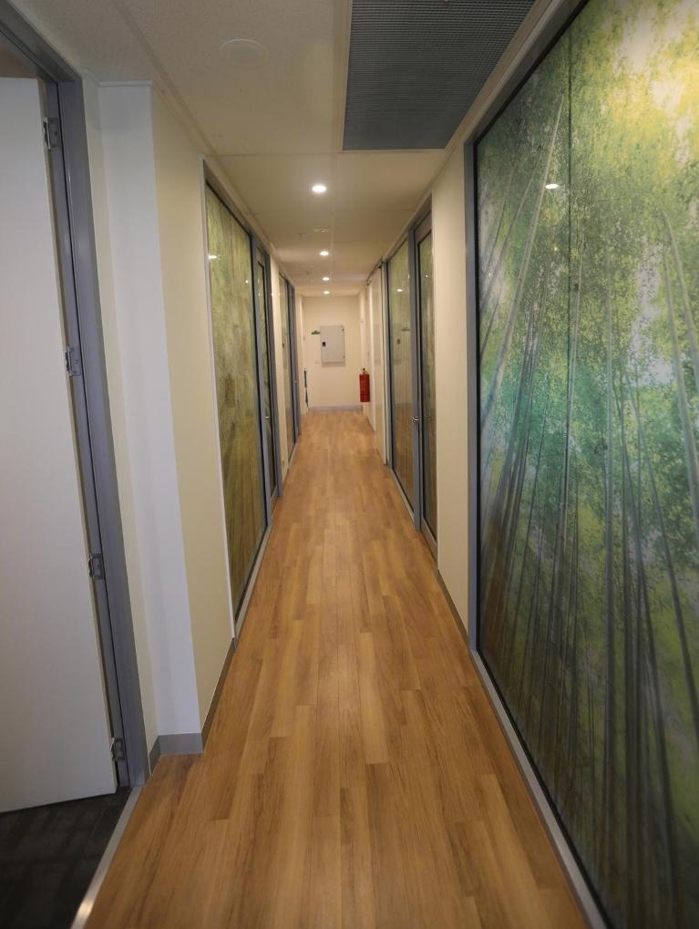 a hallway at our pascoe vale dental office